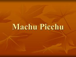 Machu Picchu - Jose Daniel Cortijo Tortosa