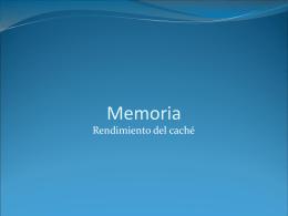 Memoria: rendimiento del cach&#233