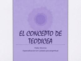 EL CONCEPTO DE TEODICEA