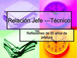 Relacion Jefe ---Tecnico