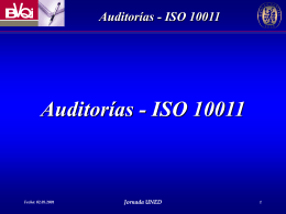 Lead Auditor Course - UNED | Universidad Nacional de