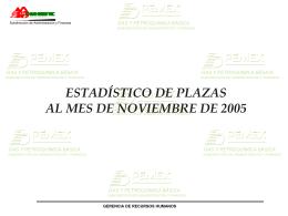 INFORME ESTADISTICO DE PLAZAS