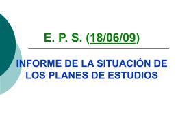 INFORME PLANES DE ESTUDIOS 18-06-09