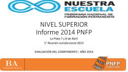 Informe 2014 PNFP