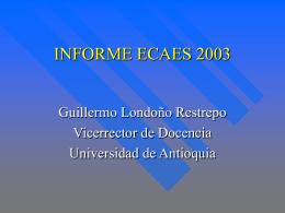 INFORME ECAES 2003