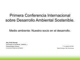 Primera conferencia Internacional sobre Desarrollo