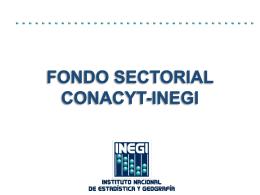 Fondo Sectorial CONACYT