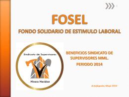 FOSEL FONDO DE ESTIMULO LABORAL