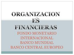 FONDO MONETARIO INTERNACIONAL BANCO MUNDIAL …