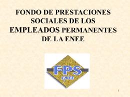 FONDO DE PRESTACIONES SOCIALES DE LOS …