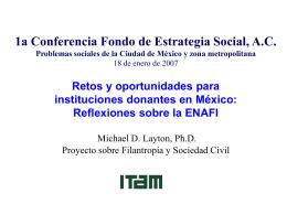 1a Conferencia Fondo de Estrategia Social, A.C. 18 de