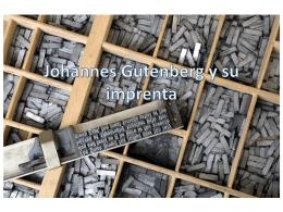 Johannes Gutenberg y su imprenta