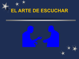 EL ARTE DE ESCUCHAR