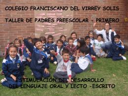 COLEGIO FRANCISCANO DEL VIRREY SOLIS TALLER A …