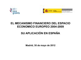 MECANISMO FINANCIERO DEL ESPACIO ECONOMICO …