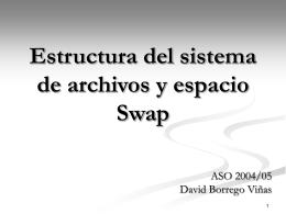 Estructura del sistema de archivos y espacio Swap