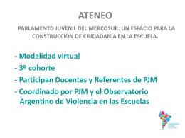 Ateneo PARLAMENTO JUVENIL DEL MERCOSUR: UN …