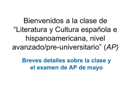 Bienvenidos a la clase AP Spanish Literature and culture