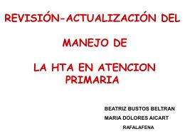 ESTRATEGIAS EN EL TRATAMIENTO DE LA HTA