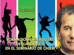 FORMACION SACERDOTAL DE JUAN BOSCO EN EL …