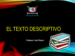 El Texto Descriptivo""