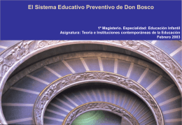 el sistema preventivo de Don Bosco 2