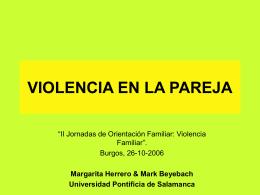TERAPIA SISTEMICA EN VIOLENCIA DE GENERO