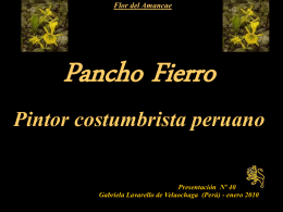 PANCHO FIERRO - Holismo Planetario en la Web | El Portal