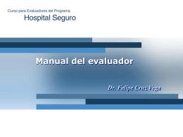 """Curso para Evaluadores del """"Programa Hospital Seguro"""""""