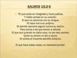 Salmos 15:2-5