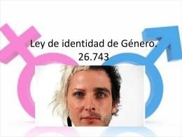 Genero, identidad y sexo