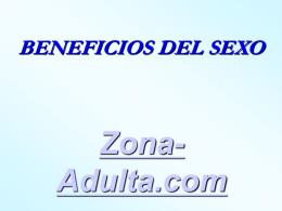 Beneficios del SEXO.