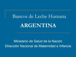 Bancos de Leche Humana ARGENTINA