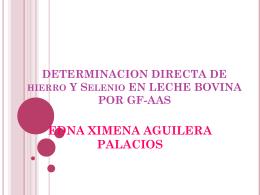 DETERMINACION DIRECTA DE Fe Y Se EN LECHE BOVINA …