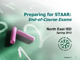 Preparing for STAAR: End of Course Exams