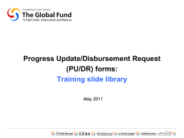 Phase 2 introduction - The Global Fund to Fight AIDS