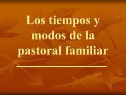 20. Los tiempos y modos de la pastoral familiar.