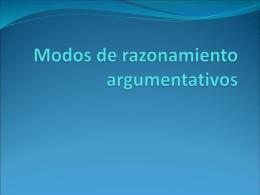 Modos de razonamiento argumentativos
