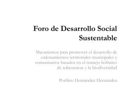Foro de Desarrollo Social Sustentable