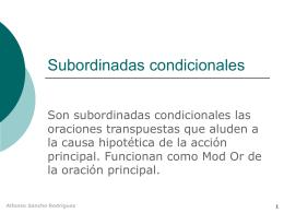 Subordinadas condicionales