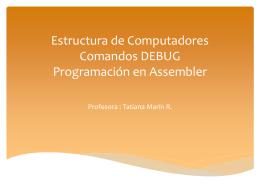 Estructura de Computadores Comandos DEBUG …