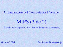 Arquitectura de Procesadores Arquitectura MIPS