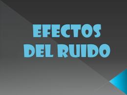 EFECTOS DEL RUIDO