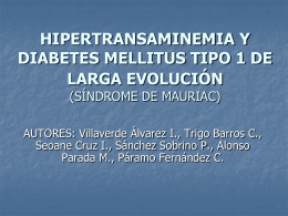 HIPERTRANSAMINEMIA Y DIABETES MELLITUS TIPO 1 DE …
