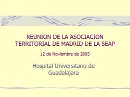 REUNION DE LA ASOCIACION TERRITORIAL DE MADRID …