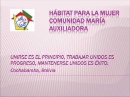 Diapositiva 1 - Unitas - Bolivia. Bienvenido (a)
