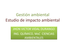 Diapositiva 1 - GESTION AMBIENTAL