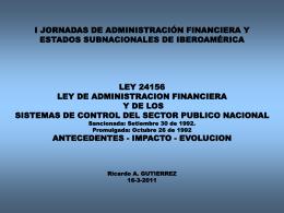 LEY 24156 LEY DE ADMINISTRACION FINANCIERA Y DE …