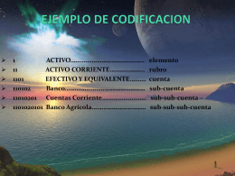 EJEMPLO DE CODIFICACION