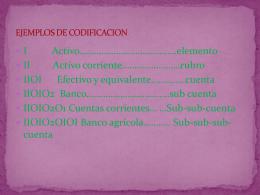 EJEMPLOS DE CODIFICACION